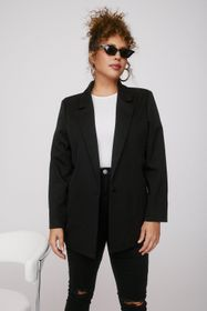Nasty Gal Black That Works for Me Plus Oversized B