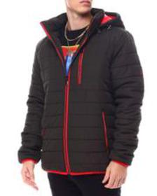 Buyers Picks bubble bomber jacket with contrast tr