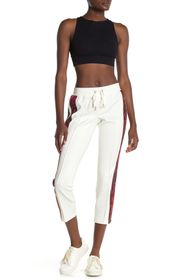 PAM AND GELA Ocelot Stripe Cropped Track Pants