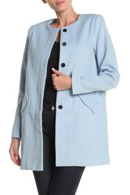 FRNCH Solid Two Pocket Peacoat