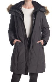 Nine West Removable Faux Fur Trimmed Hooded Parka