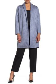 T Tahari Faux Suede Shawl Collar Jacket