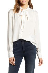 7 For All Mankind Neck Tie Blouse