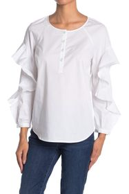 7 For All Mankind Ruffle Sleeve Shirt