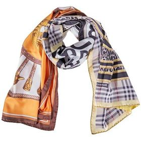 Burberry Burberry Montage Print Silk Scarf in Arch