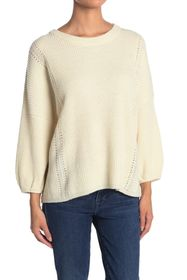 7 For All Mankind Rib Crew Neck Wool Blend Sweater