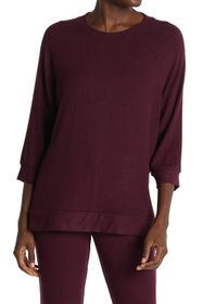 Donna Karan Soft Knit 3/4 Sleeve Lounge Top