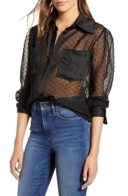 7 For All Mankind Sheer Spread Collar Shirt