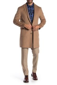 DKNY Camel Solid Button Coat