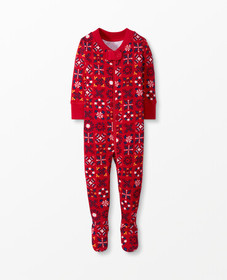 Hanna Andersson Baby Zip Footed Sleeper In Organic