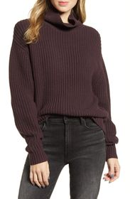 French Connection Millie Mozart Knit Turtleneck Sw