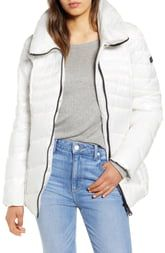Sam Edelman Chevron Quilted Puffer Jacket