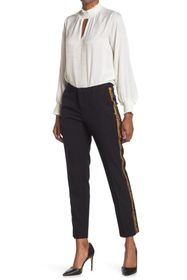 Scotch & Soda Tailored Pants with Faux Snake Skin