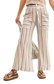 Free People Jones Beach Wide Leg Stripe Pants