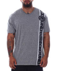 Ecko side stripes s/s v-neck (b&t)