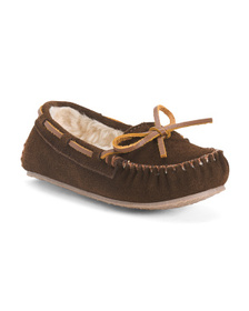 MINNETONKA Suede Moccasin Slippers (Toddler)