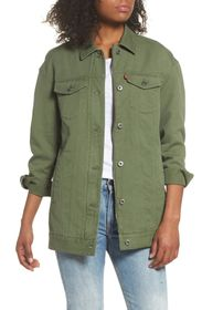 Levi's Oversized Long Cotton Trucker Jacket