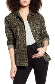 Good American Printed Snap Front Jacket