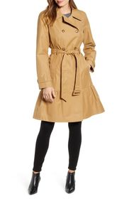 kate spade new york long belted trench coat