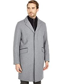 """Cole Haan 39"""" Wool Twill Long Classic Topper Coat"""