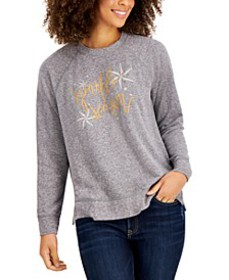Petite Graphic-Print Sweatshirt, Created for Macy'
