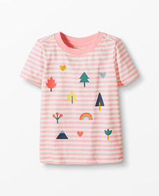 Hanna Andersson Striped Art Tee