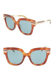 GUCCI 51mm Novelty Square Flare Sunglasses