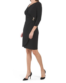 Jersey Draped Wrap Style Dress