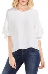 Vince Camuto Tiered Ruffle Sleeve Blouse