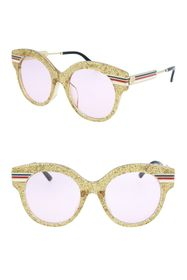 GUCCI Glitter 52mm Round Sunglasses