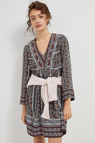 Anthropologie Naomi Embroidered Tunic Dress