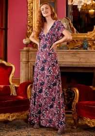 ModCloth ModCloth Baroque Bouquet Maxi Dress in Pu