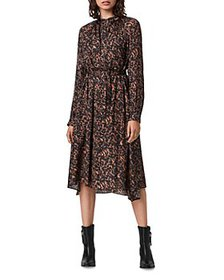 ALLSAINTS - Nina Torto Printed Belted Dress