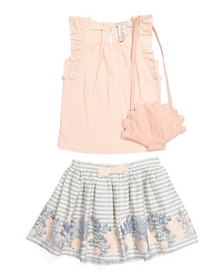 CATHERINE MALANDRINO Toddler Girls Skirt Set With