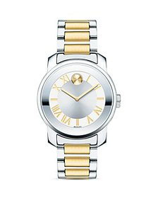Movado - BOLD Two-Tone Mirror Finish Bezel Watch,