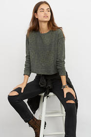 Anthropologie Lulie Cropped Pullover