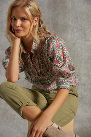 Anthropologie Annie Puff-Sleeved Blouse