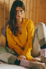 Anthropologie Ramona Cable-Knit Sweater