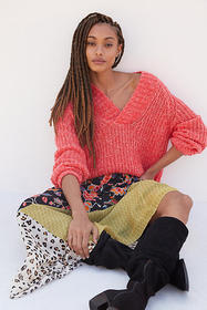 Anthropologie Honore Ribbed Sweater