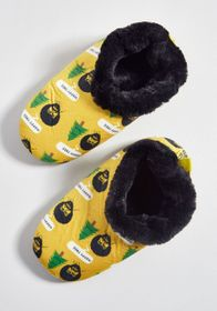 Come to Perms Bob Ross Slippers Yellow Multi