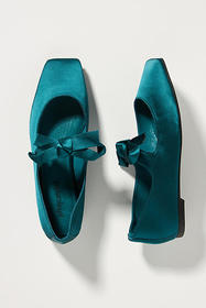 Anthropologie Jeffrey Campbell Bow Square-Toed Fla