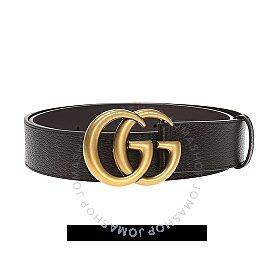Gucci Gucci Double G Buckle Leather Belt In Brown