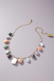 Anthropologie Timeless Pearly Charm Necklace