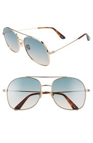 Tom Ford Delilah 58mm Tinted Aviator Sunglasses