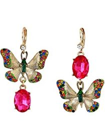 Betsey Johnson Butterfly Perfect Non-Matching Earr