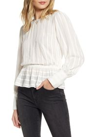 Treasure & Bond Sheer Stripe Shirt