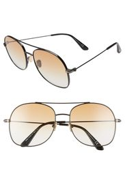 Tom Ford Delilah 58mm Aviator Sunglasses