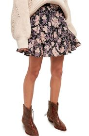 Free People End of the Island Floral Print Skirt