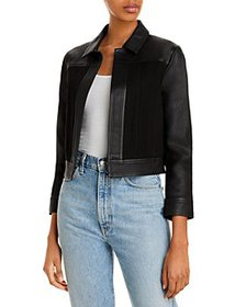 Theory - Open Front Leather Jacket