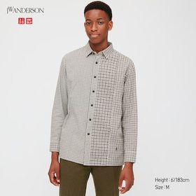 Men Flannel Checked Long-Sleeve Shirt (Jw Anderson